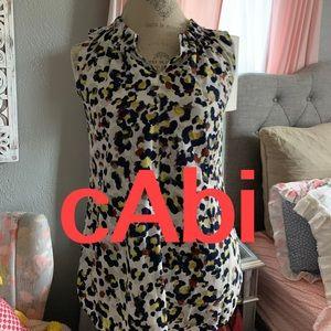 cAbi | Watercolor Leopard or Floral Blouse